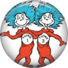 Thing 1 and Thing 2, Dr. Seuss 1 Inch Pinback Button Badge - 6036