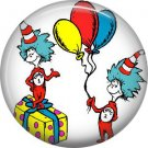 Party Time with Thing 1 and Thing 2, Dr. Seuss 1 Inch Pinback Button Badge - 6034