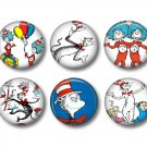 Dr. Seuss Cat in the Hat Set of 12 1 Inch Scrapbook Flair Medallions - Set 1