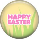 Happy Easter on Yellow Background 1 Inch Button Badge Pin Pinback Button - 2055