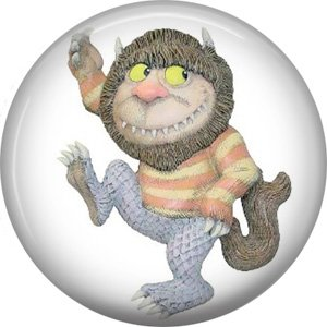 Where the Wild Things Are 1 Inch Pinback Button Badge Pin - 0080
