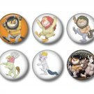 Where the Wild Things Are Set of 12 1 Inch Pinback Button Badge Pins - Set 1