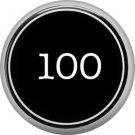 1 Inch Alphabet One Hundred Button Badge Pin Resembling Vintage Typewriter Keys