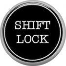 1 Inch Alphabet Shift Lock Button Badge Pin Resembling Vintage Typewriter Keys