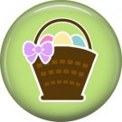 Basket of Easter Eggs on Green Background 1 Inch Button Badge Pin Pinback Button - 2063