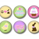Easter Spring Time Bunny Love, 12 1 Inch Pinback Buttons - Set 4