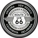 Route 66 Sign 1 Inch Americana Button Badge Pinback - 0415