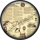 Route 66 Map 1 Inch Americana Button Badge Pinback - 0422