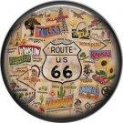 Route 66 Travel Auto Stickers 1 Inch Americana Button Badge Pinback - 0423