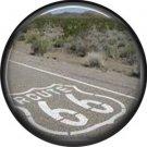 Route 66 Pavement 1 Inch Americana Button Badge Pinback - 0425
