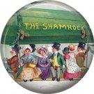 Boarding the Shamrock Blimp Ephemera Lapel Pin, St. Patricks Day 1 Inch Pinback Button Badge  - 0434