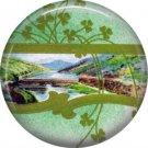 1 Inch Scenic View of Ireland Ephemera Lapel Pin, St. Patricks Day Button Badge  - 0443