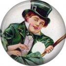 1 Inch Smiling Irish Laddie Ephemera Lapel Pin, St. Patricks Day Button Badge  - 0447