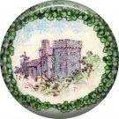 1 Inch Castle in Ireland Ephemera Lapel Pin, St. Patricks Day Button Badge  - 0450