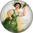 1 Inch Top of the Morning to You Ephemera Lapel Pin, St. Patricks Day Button Badge  - 0451