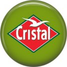Cristal Beer, 1 Inch Food and Drink Pinback Button Badge - 0403