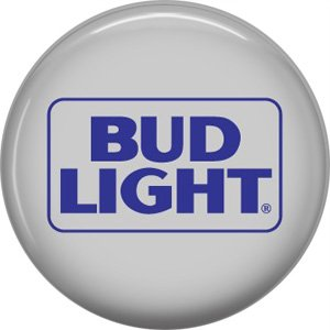 Bud Light Beer, 1 Inch Food and Drink Pinback Button Badge - 0402