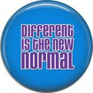 Different is the New Normal on Blue, Autism Awareness 1 Inch Button Badge Pin - 0508