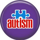 Autism on Purple, Awareness 1 Inch Button Badge Pin - 0515