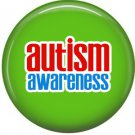 Autism Awareness on Green, 1 Inch Button Badge Pin - 0524