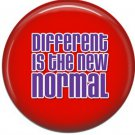 Different is the New Normal on Red, Autism Awareness 1 Inch Button Badge Pin - 0525