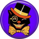 Mid Century Image Halloween Cat with Top Hat, Retro 1 Inch Button Badge Pin - RH 03