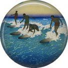 Surfing in  Hawaii, One Inch Ephemera Lapel Pin Button Badge - 0906