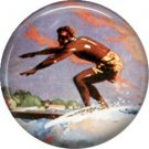 Surfer, One Inch Vintage Image on Ephemera Lapel Pin Button Badge - 0912