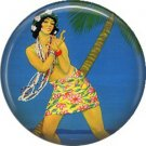 Vintage Hawaii Image on 1 Inch Pinback Button Badge Pin - -0928