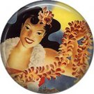 Vintage Hawaii Image on 1 Inch Pinback Button Badge Pin - -0930