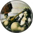 Vintage Hawaii Image on 1 Inch Pinback Button Badge Pin - -0936