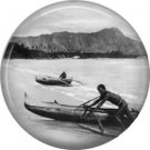 Vintage Hawaii Image on 1 Inch Pinback Button Badge Pin - -0937