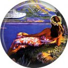 Vintage Hawaii Image on 1 Inch Pinback Button Badge Pin - -0946