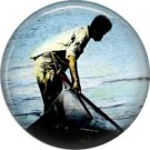 Vintage Hawaii Image on 1 Inch Pinback Button Badge Pin - -0952