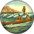 Vintage Hawaii Image on 1 Inch Pinback Button Badge Pin - -0957