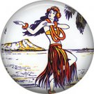 Vintage Hawaii Image on 1 Inch Pinback Button Badge Pin - -0964