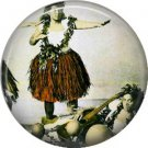 Vintage Hawaii Image on 1 Inch Pinback Button Badge Pin - -0967