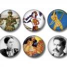 Set of 12 Vintage Hawaiian Images on 1 Inch Scrapbook Flair Medallions - Set 3