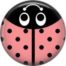 Light Pink Ladybug, 1 Inch Button Badge Pinback - 2526