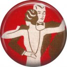 Art Deco Ballroom Dancing, 1 Inch / 25.4 mm Button Badge Pin Back - AD01