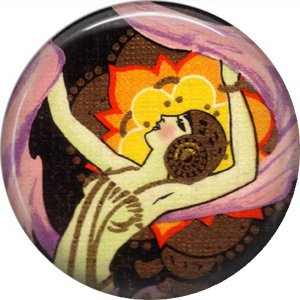 Art Deco Jazz Baby, 1 Inch / 25.4 mm Button Badge Pin Back - AD02