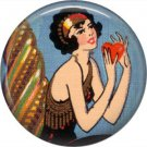 Art Deco Girls, 1 Inch / 25.4 mm Button Badge Pin Back - AD15