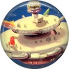 Space City, Retro Future 1 Inch Button Badge Pin - 0640