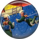 Space Walk, Retro Future 1 Inch Pinback Button Badge Pin - 0654