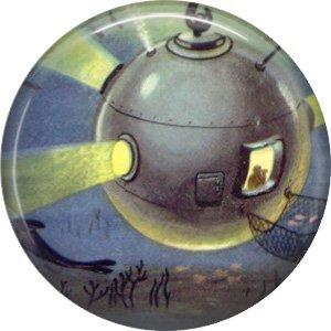 Space Orb, Retro Future 1 Inch Pinback Button Badge Pin - 0657