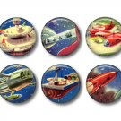 Set of 12 Retro Future 1 Inch Pinback Button Badge Pins - Set 2