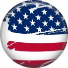 Patriotic Stars and Stripes, 1 Inch Button Badge Pin - 5013