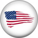 Battle Worn Flag, Support Our Troops 1 Inch Pinback Button Badge Pin - 5037