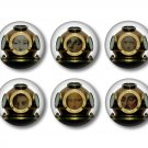 Set of 9 Steampunk Divers on 1 Inch Scrapbook Flair Medallions - Set 1