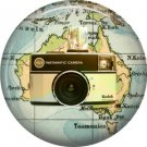 Kodak 155x Instamatic Camera, 1 Inch Button Badge Pin of Vintage Image - 0217